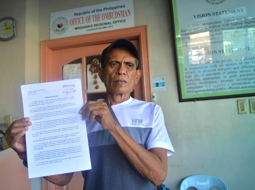 Worker files complaint vs Iligan City mayor at Ombudsman