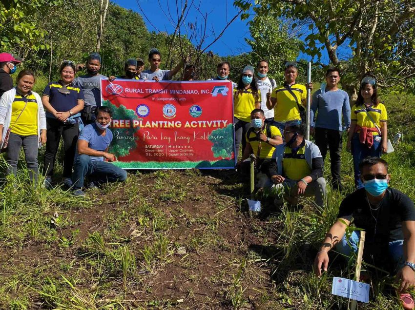 Rural Transit joins government's tree planting drive in CDO