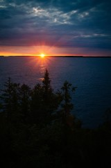 Sunset on the Georgian Bay. We had a prime location along the lake.