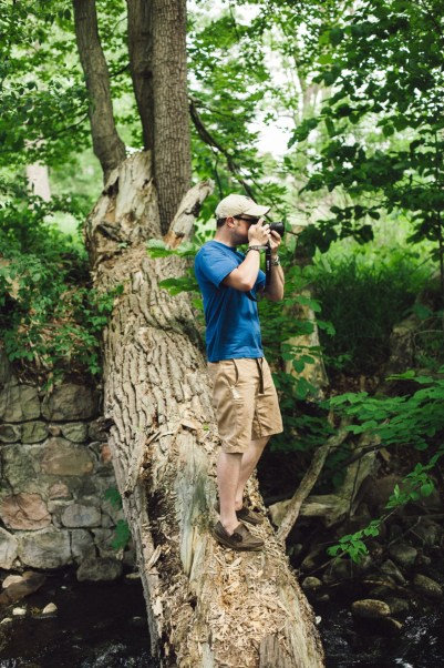 Me on a fallen tree - VSCO Film 07 Agfa Optima 100 II ++