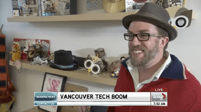 Dave talks Hootsuite on Global TV (on location)