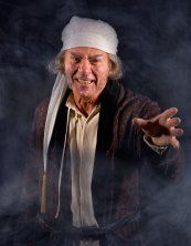 "Actor playing Scrooge in ""A Christmas Carol"" publicity photo 12/2/08"