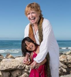 Bonnie Franklin & her grandaughter 6/30/12 Solimar Beach