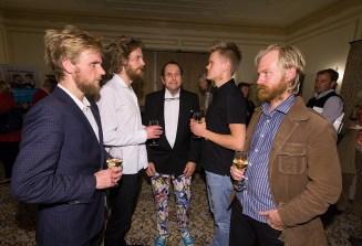 UCSB Arts & Lectures - Danish String Quartet reception11/18/14 Stewart Hall