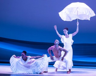 AAADT's Jacquelin Harris, Renaldo Maurice, and Fana Tesfagiorgis in Alvin Ailey's Revelations. Photo by David Bazemore
