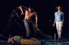 AAADT's Renaldo Maurice, Michael Jackson Jr., and Jacquelin Harris in Rennie Harris' Exodus. Photo by David Bazemore
