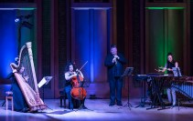 Bridget Kibbey (harp), Ani Aznivoorian (cello), Nicholas Daniel (oboe) & Ji Hye Jung (percsussion) - Camerata Pacifica 4/13/16 Hahn Hall, MAW