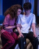 "Eden Malyn (Daphna) and Cory Kahane (Jonah) - Ensemble Theatre Co. ""Bad Jews"" 4/13/16 Alhecama Theatre"