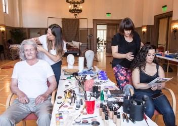 The makeup scene