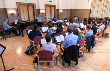 """Opera Santa Barbara's production of Puccini's """"Giannin Schicchi"""" - musical rehearsal with Maestro José Luis Moscovich 3/30/16 Weinman Hall, MAW"""