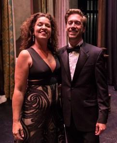 Stage Director Fenlon Lamb and Maestro Aaron Breid are pretty darn happy with the performance.
