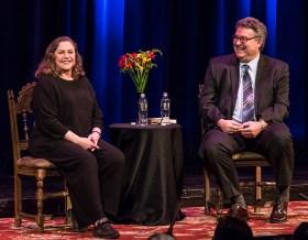 Actress Kathleen Turner & Professor Irwin Appel 4/21/16 Hatlen Theater