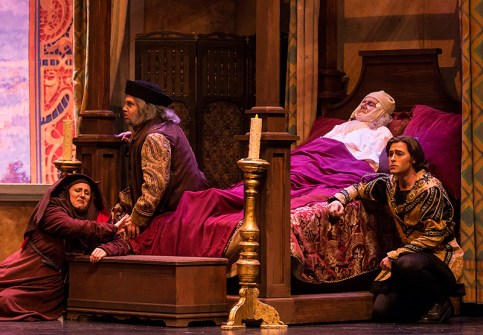 """Buoso Donati isn't too concerned about the family's mourning in Opera Santa Barbara's Giannin Schicchi"""" 4/20/16 Granada Theatre"""