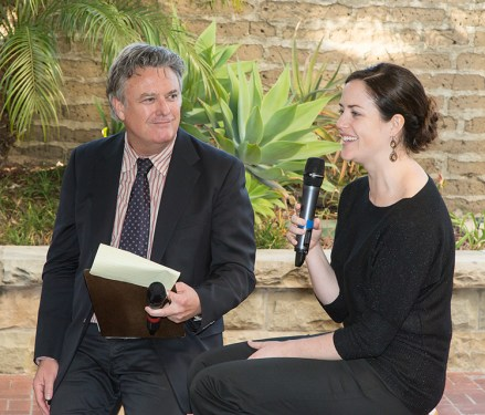 Santa Barbara Chamber Orchestra Supper Club - writer Charles Donelan interviews principal oboist Jennifer Johnson 5/17/16 Lobero Theatre courtyard