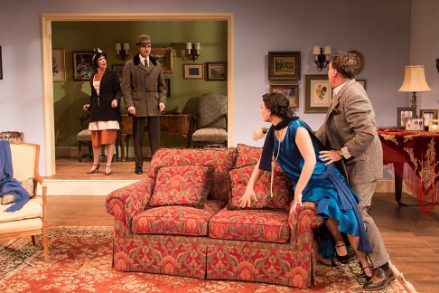 Paige Lindsey White (Julia Sterroll), Matthew Floyd Miller (Willy Banbury), Julie Granata (Jane Banbury) & Joseph Fuqua (Fred Sterroll) - Ensemble Theatre Company 6/1/16 New Vic Theatre