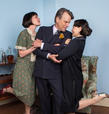 Paige Lindsey White (Julia), J. Paul Boehmer (Maurice) & Julie Granata (Jane Banbury) - Ensemble Theatre Company 6/1/16 New Vic Theatre
