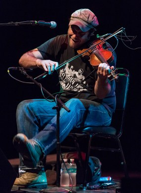 Konrad Wert foot stomin' and fiddlin' up a storm @ Sings Like Hell 7/16/16 Lobero Theatre
