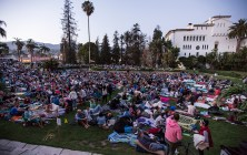 Big crowds attend UCSB Arts & Lectures Free Summer Films 7/7/16 Santa Barbara Courthouse Sunken Gardens