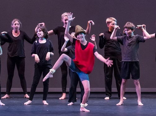 Pinocchio is a dancing sensation - Boxtales Theatre Co. Summer Camp 7/21/16 Marjorie Luke Theatre