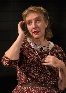 """Victoria Finlayson (Amanda Wingfield) - publicity photo for Lit Moon Theater Company's """"The Glass Menagerie"""" 8/20/16 Porter Theater, Westmont College"""