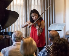 "Kristin Lee, the first ""Bernard Gondos Chair in Violin"" 8/17/16 Lovelace residence"