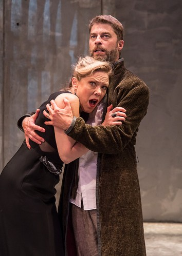 "Lady Macbeth (Kathryn Meisle) & Macbeth (Jamison Jones) - Ensemble Theatre Co. ""Macbeth"" 9/28/16 New Vic Theatre"