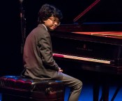 Joey Alexander basking in the appkause at Campbell Hall - UCSB Arts & Lectures 10/16/16