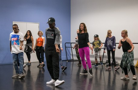 Jookin masterclass with Lil Buck and Ron Myles - UCSB Arts & Lectures 10/23/16 Sant Barbara Dance Arts studio