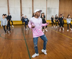 Jookin masterclass with Lil Buck - UCSB Arts & Lectures 10/26/16 Sant Barbara High School