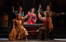 "Carmen and cohortrs in Opera Santa Barbara's ""Carmen"" 11/2/16 Granada Theatre"