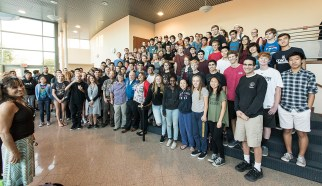 Capt. Scott Kelly with engineering students at Dos Pueblos High School - UCSB arts & Lectures 11/14/16