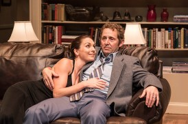 """Caroline Kingsolving (Jennie Malone) & Todd Weeks (George Schneider) - Ensemble Theatre Co. production of Neil Simon's """"Chapter Two"""" 11/30/16 New Vic Theatre"""