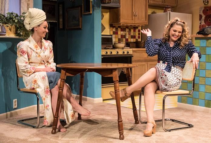 "Heather Ayers (Faye Medwick) & Caroline Kingsolving (Jennie Malone) - Ensemble Theatre Co. production of Neil Simon's ""Chapter Two"" 11/30/16 New Vic Theatre"