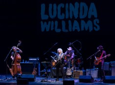 Lucinda Williams and her band at the Lobero Theatre 1/17/17