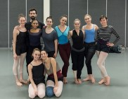Dance students in a Ballet BC masterclass - UCSB Arts & Lectures 2/2/17 Gustafson School of Dance