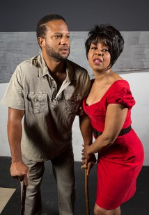 "Elijah Rock is Porgy and Karole Foreman is Bess in Ensemble Theatre Company's ""Porgy and Bess"" 1/29/17 the New Vic Theatre"