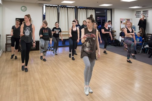 Michell Dorrance teaching tap - UCSB Arts & Lectures 2/6/17 The Dance Network Studio