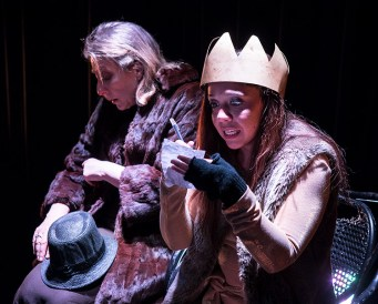 """Victoria Finlayson and Marie Ponce - Lit Moon Theatre Company's """"Richard III"""" 3/7/17 Westmont College Black Box Theater"""