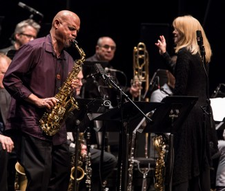 Steve Wilson solos with the Maria Schneider Orchestra at the Lobero Theatre 2/20/17