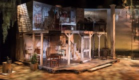 """The set in Ensemble Theatre Company's production of Tennessee Williams's """"Baby Doll 4/12/17 New Vic Theatre"""