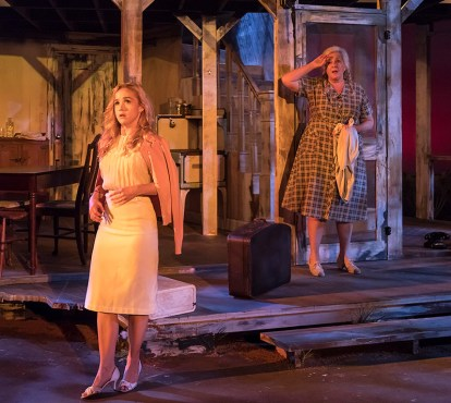 """Lily Nicksay & Wendy Phillips (Aunt Rose) in Ensemble Theatre Company's production of Tennessee Williams's """"Baby Doll"""