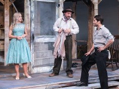 """Lily Nicksay, Shawn Law & Asher Grodman (Silva) in Ensemble Theatre Company's production of Tennessee Williams's """"Baby Doll 4/12/17 New Vic Theatre"""