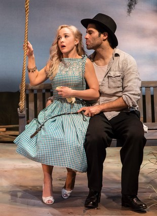 """Lily Nicksay & Asher Grodman in Ensemble Theatre Company's production of Tennessee Williams's """"Baby Doll"""