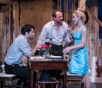 """Asher Grodman, Shawn Law & Lily Nicksay in Ensemble Theatre Company's production of Tennessee Williams's """"Baby Doll"""