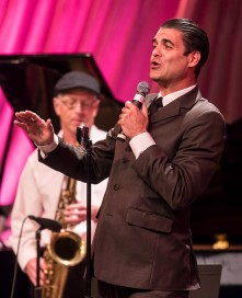 """Singer Luca Ellis belting out classic Sinatra - Center for Successful Aging's """"With A Song In My Heart"""" 4/1/17 The Marjorie Luke Theatre"""