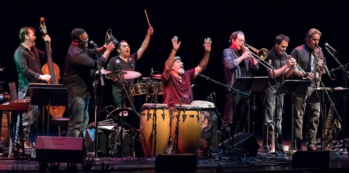 The Pancho Sanchez Latin Jazz Band get the audience to sing along 4/21/17 The Lobero Theatre