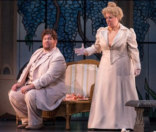 "James Callon (Prunier) & Elizabeth Kelsay (Lisette) in Opera Santa Barbara's ""La Rondine"" 4/26/17 The Granada Theatre"