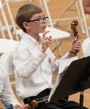 Budding young conductor at the Page Youth Center 4/29/17