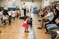 She just had to dance to that music - BRAVO! concert 4/29/17 The Page Youth Center