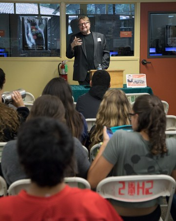 Author Luis Alberto Urrea and Santa Barbara High School students - UCSB Arts & Lectures 4/24/17